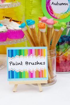 Items similar to Painting Party Candy Buffet Signs by Cutie Putti Paperie on Etsy Art Themed Party, Art Party, Art Birthday, Birthday Party Themes, Birthday Ideas, Party Printables, Candy Party, Party Favors, Party Snacks