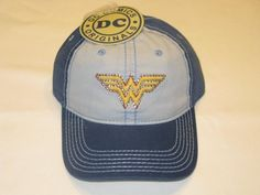 17d814a562b Amazon.com  Wonder Woman Logo DC Comics Baseball Cap Hat  Toys   Games