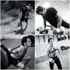 Henry Cavill doing the man of steel workout;)