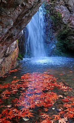 Millomeri Waterfall, Troödos Mountains, Cyprus   by kyrenian