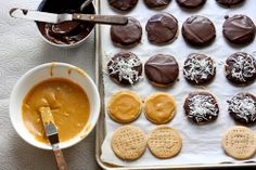Would like to make a healthier version & also try peanut & almond butter.  Dulce de Leche Digestive Cookies