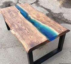 Diy Coffee Table, Coffee Table Design, Diy Table, Diy Resin River Table, Epoxy Resin Table, Diy Epoxy, Table Jardin Metal, Resin Furniture, Into The Woods