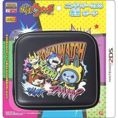 Yokai Watch Nintendo 2DS Pouch Black Game Cover Case from Japan F/S #PLEX