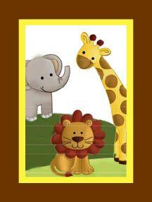 Elephant, Giraffe, and Lion