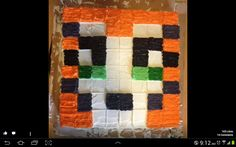 Stampy Cat grid cake- looks easy enough!