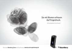 """Fingerprints"" Campaign for Blackberry by Dominique Winkel, via Behance"