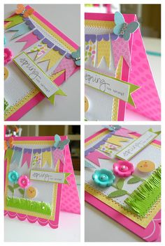 Hello Spring Card for Doodlebug By Stephanie Buice