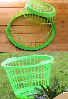 Make Wreath Fast & Easy A Dollar Store Hack is part of diy-home-decor - How to make wreath super fast with this dollar store hack! Turn a laundry basket into a wreath jig, plus tutorials on a flower wreath & a herb wreath! Dollar Store Hacks, Dollar Stores, Wreath Crafts, Diy Wreath, Diy Crafts To Sell, Home Crafts, Decor Crafts, Christmas Wreaths, Christmas Crafts