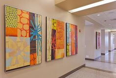 Modern Art by Rex Ray on display at Flagler Hospital in St. Augustine, FL.