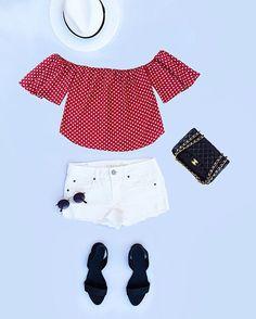 Polka dots off The shoulder blouse