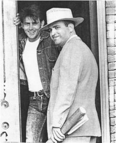 Terrence Malick with Martin Sheen on the set of Badlands