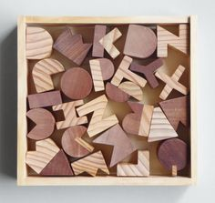 Wood alphabet: I built them for my daughter at pre-school age. Cool way to get young kids used to the shapes!