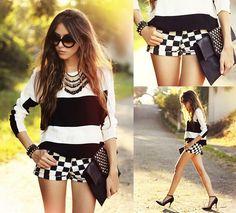 LOVE this outfit! Sheinside Top, Romwe Shorts - Lacuna - Flávia Desgranges van der Linden