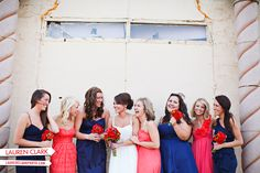 Navy and Coral Wedding Color Ideas --what do you think ladies? Mix and match or one color?