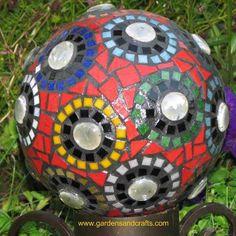 How to turn bowling balls into mosaic garden art
