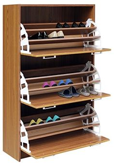 Concepts 76153 Deluxe Triple Shoe Cabinet (Light Walnut), D x W x H * Check out this great product. (This is an affiliate link)