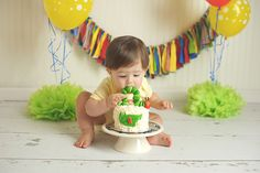the very hungry caterpillar smash cake - Google Search