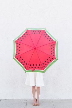 Summer Craft Projects: Make Your Own DIY Watermelon Umbrella via Studio DIY