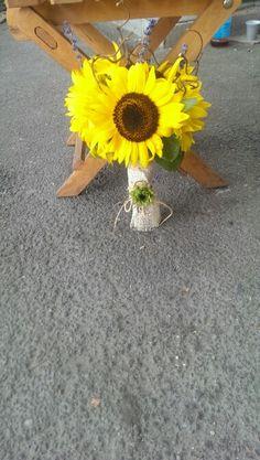 Buchet mireasa din floarea soarelui