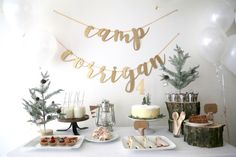 Photography : Doreen Corrigan Read More on SMP: http://www.stylemepretty.com/living/2017/03/13/camping-themed-4th-birthday-party/