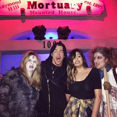 d0ac1d1dd121 Derek Hough and Bethany Mota at a Halloween Haunted House in LA Bethany Mota