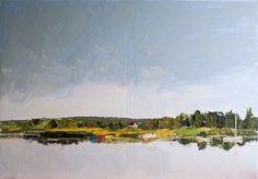 """""""Popołudnie""""- obraz olejny na płótnie 100x70, szpachla malarska """"Afternoon""""- oil on canvas 100x70, palette knife"""