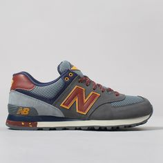 New Balance ML574TSY Shoes - Grey/Maroon The Woods Pack
