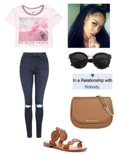 """Untitled #1026"" by qveenkyndall16 ❤ liked on Polyvore featuring MICHAEL Michael Kors, Billabong, Jack Rogers and Topshop"