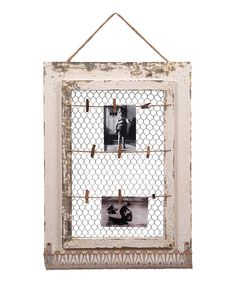 This White Vintage Memo Board by Wilco is perfect! #zulilyfinds