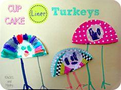 RACKS and Mooby: Cupcake Liner Turkeys {Kid Craft}