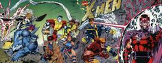 x-men wrap around cover | ... cover to the big nineties relaunch of the X-Men by Claremont and Jim