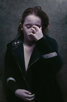 """""""The Murmur of the Innocents 20"""" (2010) Gottfried Helnwein. Mixed media (oil and acrylic on canvas)."""
