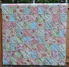 Shabby Chic Rag Quilt Summer Evening by SeasonOfTheStitch on Etsy
