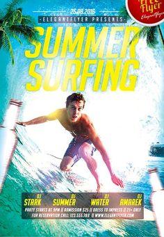 """Plantilla PSD gratis """"Summer Surfing"""""""