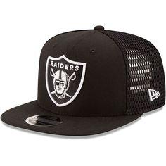 Grey//Black New Era NFL 9FIFTY Cotton Block Oakland Raiders Snapback