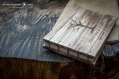 Winter tree rustic wedduing guest book