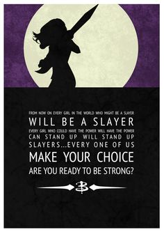 Inspirational Buffy Posters by Leona Ryder, via Behance