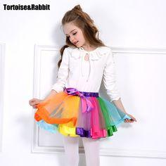 >> Click to Buy << 2PCS Baby Girls Tutu Skirts Rainbow Pettiskirt With Headflower Chiffon Kids Bowknot Child Princess Skirts Party Dance Clothing #Affiliate