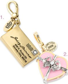Juicy Valentine Candy Box Charm, 2008 and Juicy Princess Letter Charm. <3
