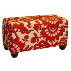 I pinned this Gerber Storage Bench in Cherry from the Skyline event at Joss and Main! Upholstered Storage Bench, Bench With Storage, Bedroom Storage, Ottoman Storage, Fabric Storage, Extra Storage, Storage Ideas, Sheet Storage, Storage Benches
