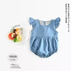 Cheap infant bodysuit, Buy Quality girls sleeveless bodysuits directly from China baby girl sleeveless bodysuits Suppliers: New 2017 summer newborns baby clothing Denim bodysuits infant jeans one-pieces clothes baby girls sleeveless cowboy Bodysuits Newborn Girl Outfits, Baby Boy Newborn, Baby Girls, Denim Romper, Denim Outfit, Baby Girl Boutique, Sleeveless Outfit, Girls Rompers, Baby Rompers