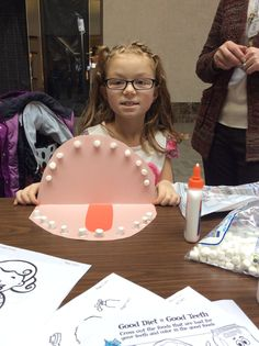 Toddler Tuesday was a lot of fun today! It is Dental Health Month so we made crafts, learned about what foods are good/bad for your teeth, and the Erie County Health Department came to join in on the fun!