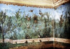 garden frescoes decorating the house of Livia, wife of Emperor Augustus, 1st century, Museo Nazionale Romano, Italy