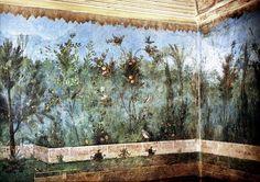 Fresque de la maison de Livie - Museo Nazionale Romano (Palazzo Massimo alle Terme) Affreschi del ninfeo sotterraneo della villa di Livia