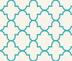 Bristol in Turquoise fabric by willowlanetextiles on Spoonflower - custom fabric