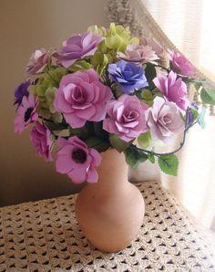 Paper Flower Arrangement Perfect for by SweetPeasPaperFlower, $35.00