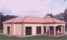 Best 4 Bedroom House Plans In Kenya Two Bedroom House Design, House Floor Design, 4 Bedroom House Plans, Bungalow House Design, Small House Design, House Plans For Sale, Free House Plans, Family House Plans, House Floor Plans