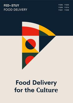 Fed-Stuy Food Delivery Poster Brooklyn, NY. Mark O'Neill Graphic Designer Chelsea College of Arts