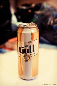 Gull (meaning gold) is one of Iceland's finest beers. Photo by Paul MacKinnon.