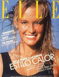 Cover with Estelle Hallyday (Lefebure) June 1987 of ES based magazine Elle Spain from Hachette Filipacchi Media including details. Kim Basinger, 80s Fashion, Fashion News, Moda China, Estelle Lefébure, Elle Magazine, Magazine Covers, Famous Models, Vintage Magazines